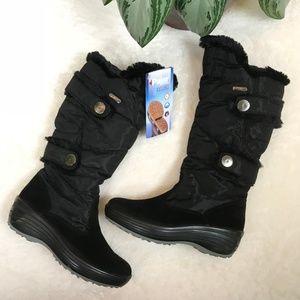 Pajar Black Carmin Faux Fur Boots Size 38
